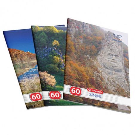 Set 10 caiete Herlitz Romania A4, dictando, 60 File