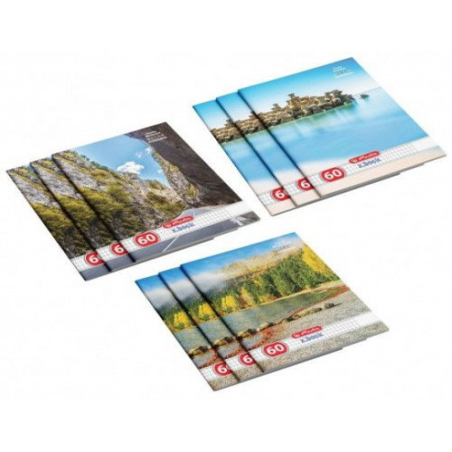 Set 10 caiete Herlitz Romania A4, matematica, 60 File