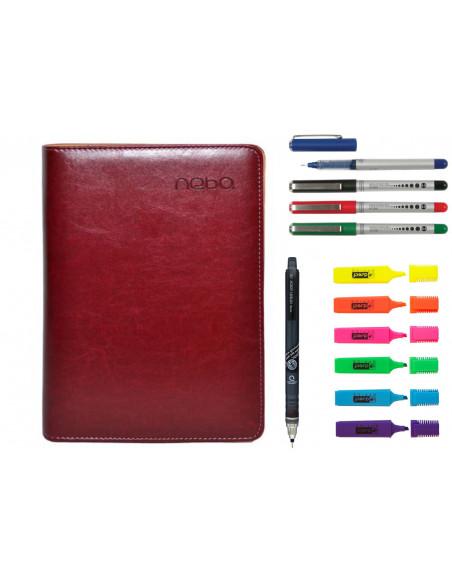 Set Agenda Organizer cu fermoar, calculator si calendar, Pix