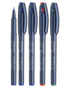 Set 5 Rollere Schneider Topball 857 0.6 mm, 3 albastre, rosu, verde