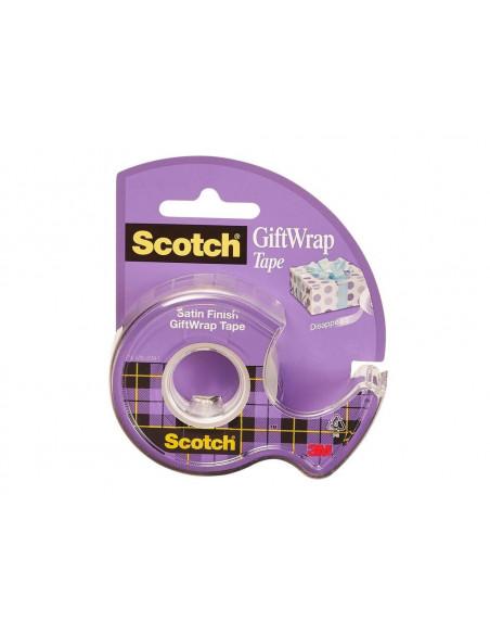 Bandă Adezivă Gift Wrap Cu Dispenser, 19 mm X 16.5 m, Scotch