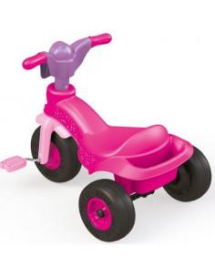 Tricicleta Dolu Unicorn cu pedale, 49x60x42 cm, Roz/Mov