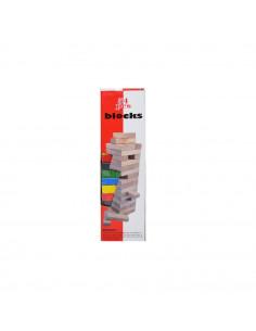 Joc de lemn colorat, 54 piese, Turnul cazator