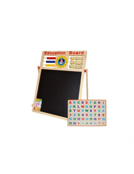 Tablita magnetica, 46,5 cm, alb-negru si accesorii