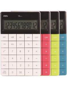 Calculator Birou Deli 12 Digiti Modern, negru