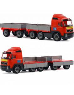 Camion Volvo Powertruck Wader Cu Remorca, 77 Cm