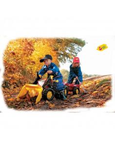 Tractor cu pedale Rolly Kid X cu remorca si cupa, Rosu