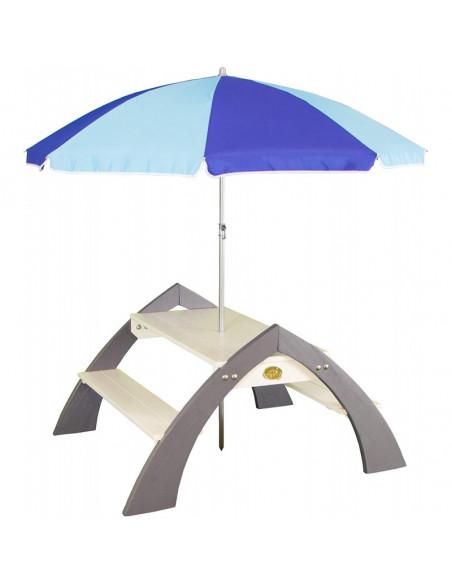Masuta copii Axi cu umbrela, 98 x 116 x 98 cm