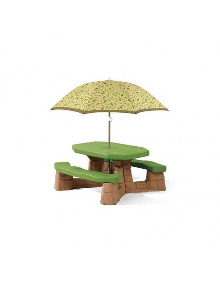 Masuta copii picnic cu umbrela Step2