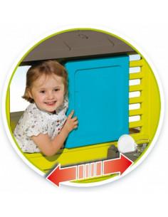 Casuta copii Smoby Pretty, bucatarie cu 17 accesorii, 145 x 110