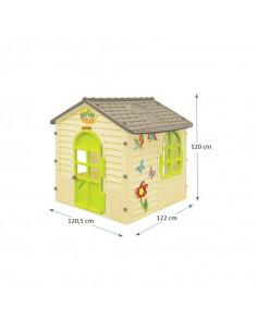 Casuta copii MochToys Garden House, 120.5 x 122 x 120 cm