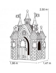 Casuta castel copii Feber Frozen, 250 x 198 x 147 cm