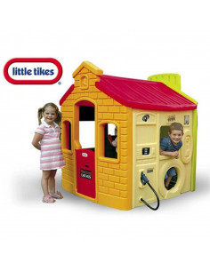 Casuta copii 4 in 1 Little Tikes Benzinarie, 147 x 124 x 155 Cm
