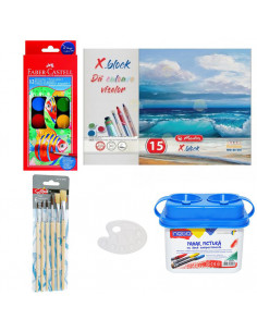 Set Pictura 1 - Acuarele Faber-Castell, Pahar pictura