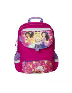 Ghiozdan scoala Starter Plus LEGO Core Line - design roz
