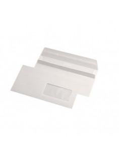 Plic DL, alb, autoadeziv, cu fereastra dreapta, 75g/m², 110 x 220 mm