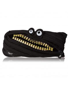 Penar cu fermoar, ZIPIT Grillz Monster - negru cu dinti aurii