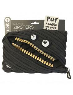 Penar cu fermoar, ZIPIT Grillz Monsters Jumbo - negru cu dinti