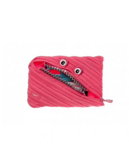 Penar cu fermoar, ZIPIT Grillz Monsters Jumbo - roz cu dinti