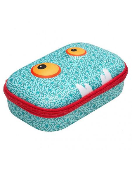 Penar cu fermoar, ZIPIT Beast Storage box - bleu cu model
