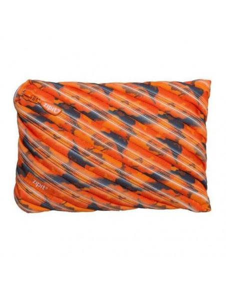 Penar cu fermoar, ZIPIT Camo Jumbo - portocaliu cu maro