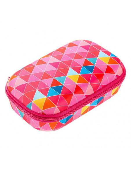 Penar cu fermoar, ZIPIT Colorz Storage box - triunghiuri roz