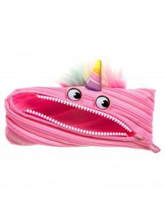 Penar cu fermoar, ZIPIT Unicorn - roz deschis