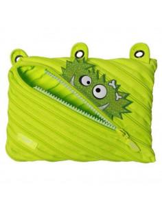 Penar cu fermoar, ZIPIT Talking Monstar - verde deschis