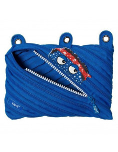 Penar cu fermoar, ZIPIT Talking Monster Pouch-Royal Blue
