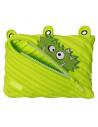 Penar cu fermoar, ZIPIT Talking Monstar Jumbo - verde deschis