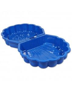 Cutie Pentru Nisip Scoica Dubla, Albastru