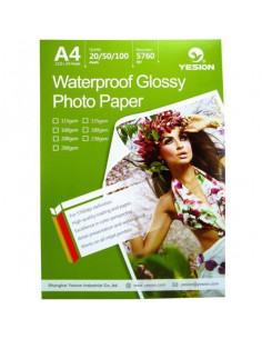 Hartie foto Yesion Waterproof Glossy A4, 260g/mp, 50 coli/pachet