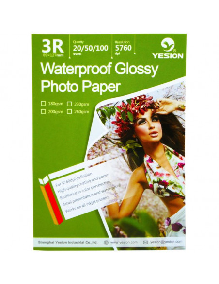 Hartie foto Yesion Waterproof Glossy 3R, 260 g/mp, 20
