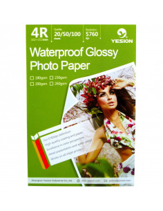 Hartie foto Yesion Waterproof Glossy 4R, 230 g/mp, 50 coli/pachet