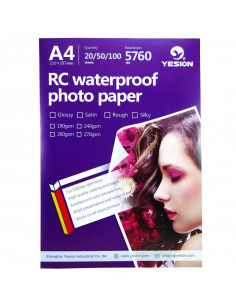 Hartie foto Yesion Ultra Glossy A4 RC, 260 g/mp, 50 coli/pachet