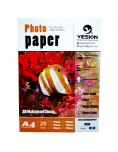 Hartie foto Yesion 3D Glossy A4, 230 g/mp, 20 coli/pachet