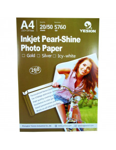 Hartie foto Yesion Pearl Glossy Silver A4, 260 g/mp, 20