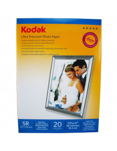 Hartie foto Kodak Ultra Premium High Glossy 5R RC, 270 g/mp, 20 coli/pachet
