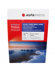 Hartie foto Agfa Glossy A4, 135 g/mp, 50 coli/pachet