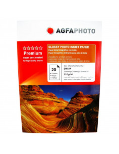 Hartie foto Agfa Glossy A4, 210 g/mp, 20 coli/pachet