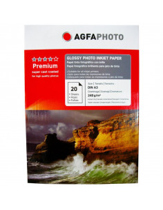 Hartie foto Agfa Glossy A3, 240 g/mp, 20 coli/pachet