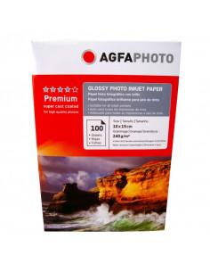 Hartie foto Agfa Glossy 4R, 240 g/mp, 100 coli/pachet