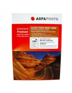 Hartie foto Agfa Glossy 5R, 210 g/mp, 100 coli/pachet