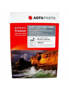 Hartie foto Agfa Glossy 5R, 240 g/mp, 100 coli/pachet