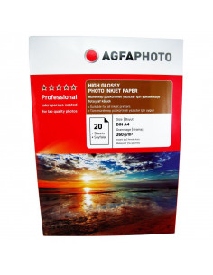 Hartie foto Agfa Ultra Glossy A4 RC, 260 g/mp, 20 coli/pachet