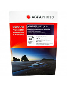 Hartie foto Agfa Ultra Glossy Satin A4 RC, 260 g/mp, 20 coli/pachet
