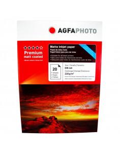 Hartie foto Agfa Matte Double A4, 220 g/mp, 20 coli/pachet