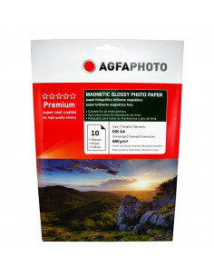 Hartie foto Agfa Magnetic Glossy A4, 680 g/mp, 10 coli/pachet