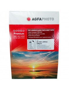 Hartie foto Agfa Self-Adhesive Glossy A4, 135 g/mp, 20 coli/pachet