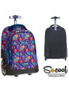 Ghiozdan Trolley Compartiment Laptop, PAISLEY, 48x32x23cm -